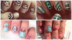 Resultado de imagen para uñas decoradas estilo tribal