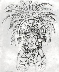 Aztec by LadyFatalityYou can find Aztec art and more on our website.Aztec by LadyFatality Aztec Headdress, Headdress Tattoo, Dessin Aztec, Aztec Symbols, Mayan Symbols, Viking Symbols, Egyptian Symbols, Viking Runes, Ancient Symbols