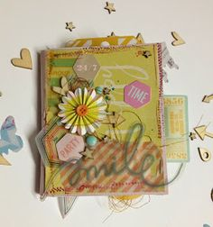 The Colour Press: mixed media mini album with tutorial on creating the background My Dear Friend, Mini Albums, Mixed Media, Challenges, Paper Crafts, Colour, Create, Party, Color