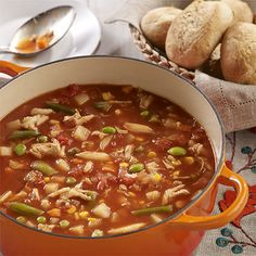 Maryland Crab Soup: East coast crab soup with chunky pieces of tomato, potatoes, vegetables and crab for a tasty seafood soup recipe