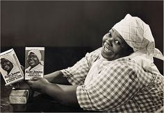 Nancy Green a former slave, was employed in 1893 to promote the Aunt Jemima brand by demonstrating the pancake mix at expositions and fairs. She was a popular attraction because of her friendly personality, great story-telling, and warmth. Green signed a lifetime contract with the pancake company and her image was used for packaging and billboards.