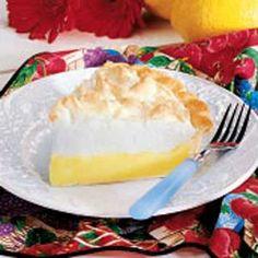 Grandma's Lemon Pie Recipe | Taste of Home Recipes.   MY PERSONAL NOTE TO SELF:  add 8oz of sour cream TW
