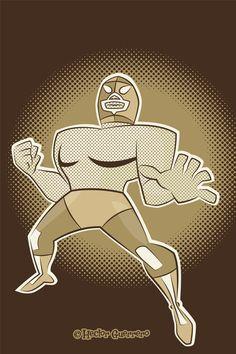 Mexican Wrestler Mexican Wrestler, Nacho Libre, Mexican Designs, Kitsch, Chevrolet Logo, Digital Art, Character Design, Pumpkin, Wrestling