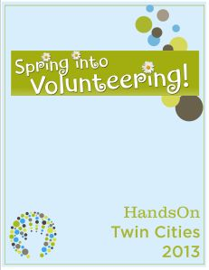 50+ ways to volunteer in the Twin Cities this spring!