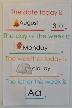 this and that: preschool letter of the week chart More