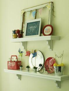 Cozy.Cottage.Cute.: Shelf Vignette Inspiration