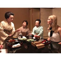 Ivanka Trump (@ivankatrump) Instagram:「Enjoying my first visit to Japan with a traditional Kaiseki meal in Tokyo. Thank you to our hosts…」