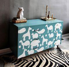 Vintage Painted Baby Nursery Dresser by ShabbyMaggie on Etsy