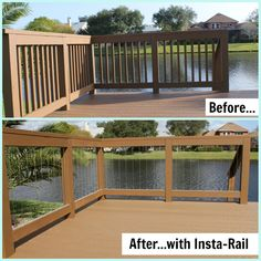 decks with vertical wire for railing | Home > INSTA-Rail > NEW! Insta-Rail® Vertical Cable Railing System 36 ...