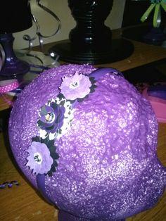 Purple flower headband by NiEs N Easy Designs!