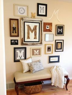 how to create a monogram gallery wall letter wall decormonogram - Letter Wall Decor