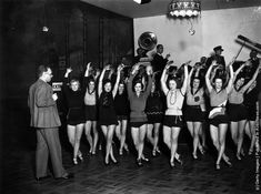 rehearsal playsuit  Vintage Photos of Cabaret Dancers from 1900's–1930's