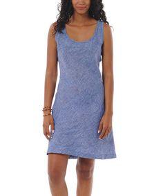 Another great find on #zulily! Breton Blue Lithe Languid Linen Dress #zulilyfinds