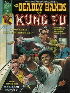 Neal Adams cover to Marvel's Deadly Hands of Kung-Fu #3, featuring Jim Kelly and Bruce Lee, August 1974.