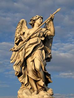 The Angel with the Lance, Gian Lorenzo Bernini, Ponte Sant'Angelo, Rome, Italy // Why we love it: Bernini's dynamic figures capture the intensity of epic narratives in a single moment.