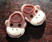Wool Baby Monster Slippers. $24.00, via Etsy.