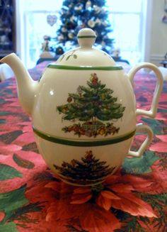 Tea for one Spode Christmas Tree