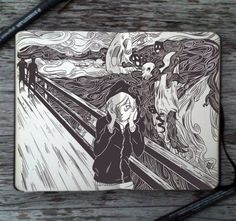 _87_the_scream_by_365_daysofdoodles-d7c0oy4