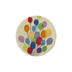 Momeni Lil Mo Whimsy Round Balloons Area Rug ($229) ❤ liked on Polyvore featuring home, rugs, animal area rugs, momeni area rugs, textured area rug, flower area rug and momeni rugs