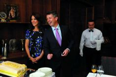 Crown Princess Mary & Crown Prince Frederik receive a cake for their 10th wedding anniversary, May 14, 2014