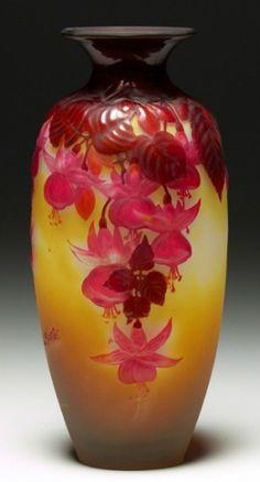 Emile Galle lamp c1900