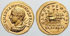 25. Elagabalus (218-222)   This fellow appears to have been a complete wacko!  Highly eccentric and decadent, some historians believe he may have been clinically insane.  He was only 14 when he began his reign, and we know the affect of absolute power.  He was murdered, based on a plot hatched by his grandmother, Julia.