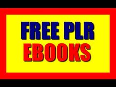Free PLR Ebooks: Download 6 Unrestricted free plr ebooks