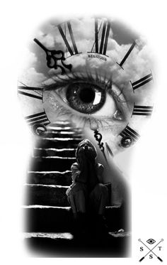 Leg Tattoos Small, Upper Arm Tattoos, Cool Forearm Tattoos, Stairway To Heaven Tattoo, Rauch Tattoo, Zeus Tattoo, Heaven Tattoos, Christ Tattoo, Clock Tattoo Design