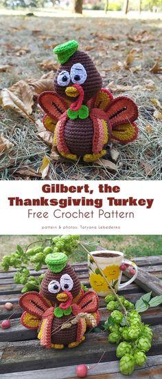 Thanksgiving Crochet, Holiday Crochet, Thanksgiving Crafts, Crochet Home, Free Crochet, Halloween Crochet Patterns, Crochet Dolls Free Patterns, Crochet Blanket Patterns, Crochet Designs