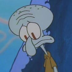 Cute Cartoon Pictures, Sad Pictures, Cartoon Profile Pictures, Cartoon Pics, Cute Cartoon Wallpapers, Spongebob Cartoon, Spongebob Memes, Cartoon Memes, Squidward Meme