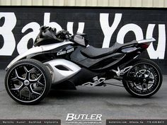 Can-Am Spyder with Custom 20in Asanti AF164 Wheels by Butler Tires and Wheels