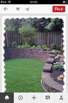 Backyard raised garden