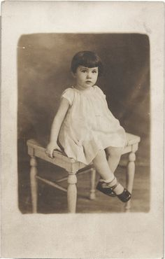 Adorable ANTIQUE PHOTO of a Sweet Little Girl by vintagewarehouse, $3.50