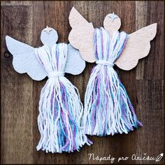 Office Christmas, Kids Christmas, Christmas Crafts, Christmas Decorations, Nursing Home Crafts, Diy And Crafts, Crafts For Kids, Christmas Angel Ornaments, Macrame Projects