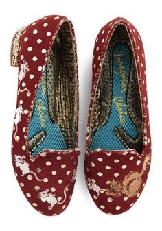 """Playing Cat and Mouse Flat by Irregular Choice.  I usually can't wear """"real"""" shoes, but these are SO CUTE!"""
