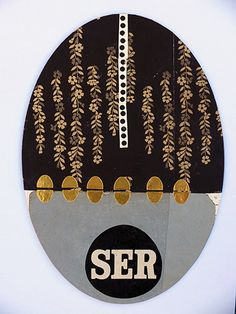 "© COLMADO MAZA Collage sobre madera (34 x 23,5 cm.).  Titulo: ""SER"""