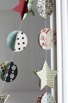 Guirlande de Noël en papier à fabriquer soi-même