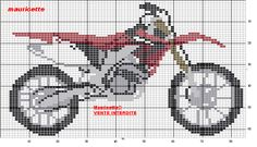 Dirt bike perler bead pattern