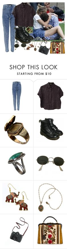 """""""Untitled #2836"""" by valley-of-the-teenage-dolls ❤ liked on Polyvore featuring Boohoo, Kenzo, Dr. Martens, Ray-Ban, Michal Negrin, Madewell and Katheley's"""