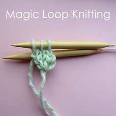Circular cast on and magic loop knitting