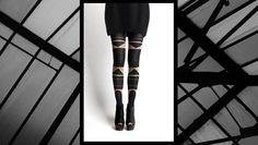 Tights from Patternity : art for your legs. I think they're pretty awesome, and the packaging design is great. Would you wear these? Cool Tights, Leg Art, Ballet Shoes, Dance Shoes, For Your Legs, Patterned Tights, I Love Fashion, Women's Fashion, Modcloth