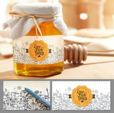honey label for a family farm Mehr