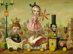 "Mark Ryden """"Mark Ryden (born January is an American painter, part of the Lowbrow (or Pop Surrealist) art movement. He was dubbed ""the god-father of pop surrealism"" by Interview Magazine. Mark Ryden, Art Pop, Michael Sowa, Arte Lowbrow, Art Mignon, Tim Walker, Surreal Art, Art Plastique, Oeuvre D'art"