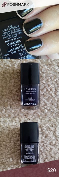 Chanel Nail Polish Grit Obscur NEW Beautiful black nail polish from Chanel. New and authentic CHANEL Makeup