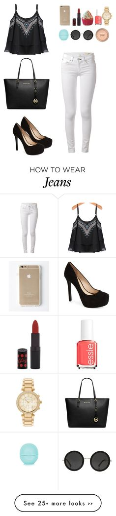 """""""White jeans + heels"""" by gimcdonnell on Polyvore"""
