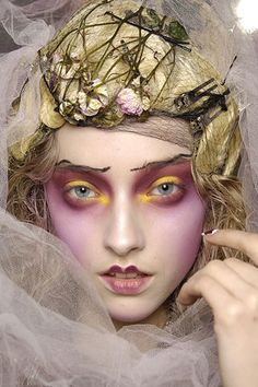 Make-up by Pat McGrath for Dior Haute Couture by John Galliano. Makeup Art, Beauty Makeup, Eye Makeup, Hair Makeup, Makeup Ideas, Makeup Style, Catwalk Makeup, Runway Makeup, Fashion Editorial Makeup