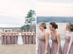 Gorgeous bridesmaid dresses | Rustic White Photography | The Lovely Find