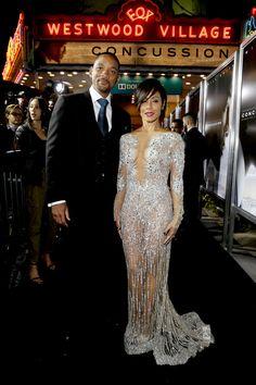 Jada Pinkett at premiere for husband Will Smith's film ... |Will Smith Jada Pinkett Wedding Dress