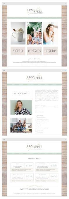 Custom ProPhoto Website Design by Tiffany Kelley Design :: Web Design #design…