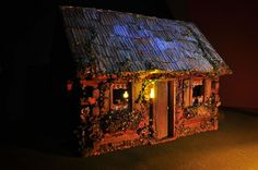 Fairy Log Cabin is Complete